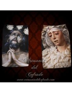 Calcetin de movil de los titulares de la Cofradía de la Estrella de Sevilla