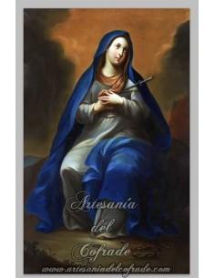 Espectacular azulejo rectangular de la Soledad de María.