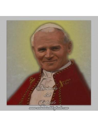 Azulejo cuadrado del Papa Juan Pablo II