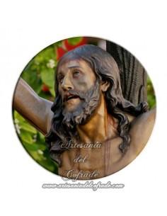 Imán redondo plastico del Cristo de la Expiración de Sevilla (El cachorro)