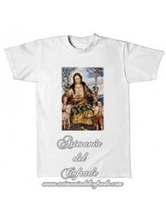 Camiseta con la Divina Pastora de Cantillana