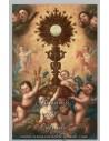 Azulejo rectangular de la Adoración a la Eucaristia