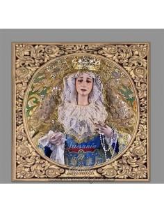 Azulejo cuadrado de la virgen de la Paz y Esperanza de Cordoba