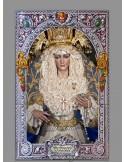 Azulejo rectangular de María Santísima de la Alegría de Cordoba