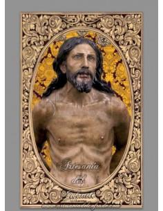 Azulejo rectangular de Nuestro Padre Jesús de la Columna de Lucena (Córdoba)