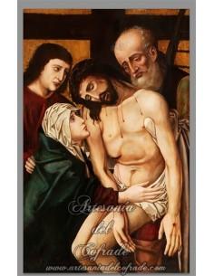 Bonito azulejo rectangular del Descendimiento de Jesús