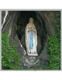 Azulejo cuadrado de la Virgen de Lourdes
