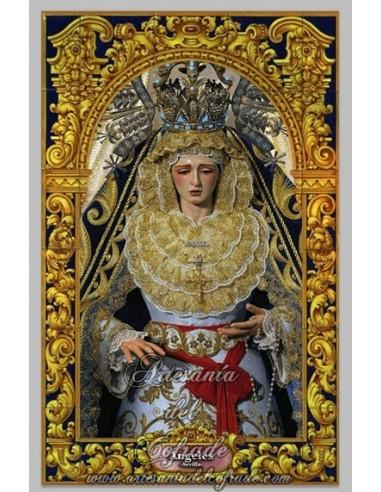 Azulejo rectangular de Nuestra Señora de los Ángeles (Hermandad de los Negritos) Sevilla