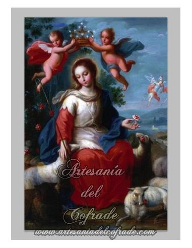 Azulejo rectangular de la Divina Pastora