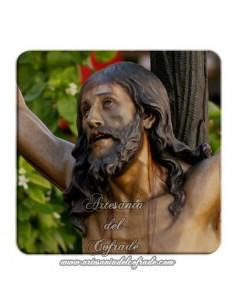 Imán cuadrado plastico del Cristo de la Expiración de Sevilla (El cachorro)