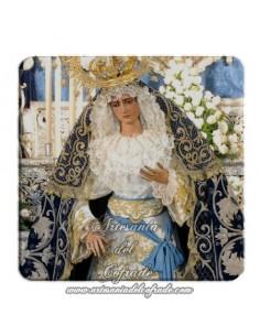 Imán cuadrado de plastico  de la Virgen de la Hiniesta (Sevilla)