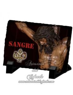 Pizarra rectangular del Cristo de la Sangre de Sevilla