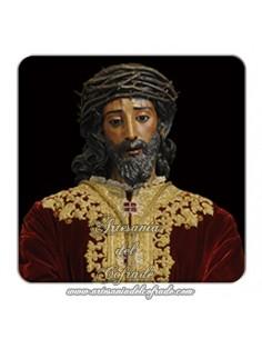 Imán cuadrado de plastico del Cristo de la Sentencia de Sevilla