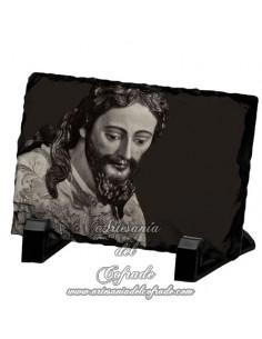 Pizarra rectangular del Cristo del Silencio Blanco de Sevilla