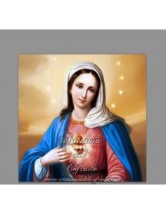 Azulejo cuadrado del Sagrado Corazón de Maria