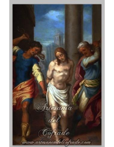 Azulejo rectangular de Jesús azotado