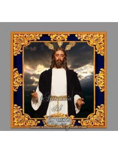 Azulejo del Cristo de Jesús en su Redención en el beso de Judas de Sevilla