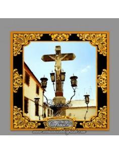 Azulejo cuadrado con el Cristo de los Faroles de Cordoba