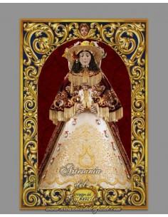 Azulejo de la Virgen del Rocio vestida de Pastora.