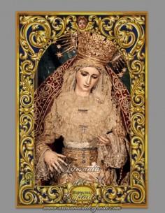 Bonito azulejo de la Virgen del Patrocinio de Sevilla