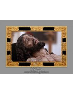 Azulejo rectangular del Cristo de Santa Marta de Sevilla