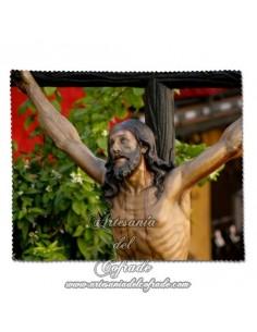Toallita Limpia Gafas con el cristo del Cachorro de Sevilla