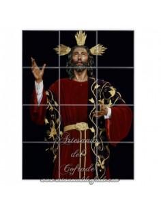 Retablo de 12 azulejos del Cristo de la Santa Cena de Sevilla