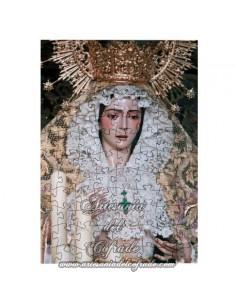 Puzzle de madera con la Virgen del Rocio de Sevilla. Cofradia de Redención.