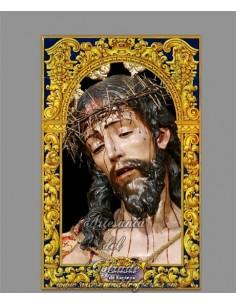 Azulejo rectangular del Cristo de la Coronación de Espinas (Sevilla)