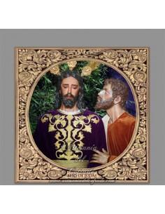 Azulejo cuadrado del Cristo del beso de Judas de Sevilla