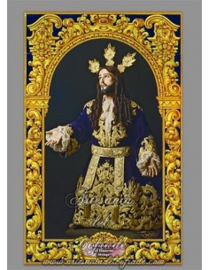 Azulejo del Cristo de la Oración en el huerto de Málaga