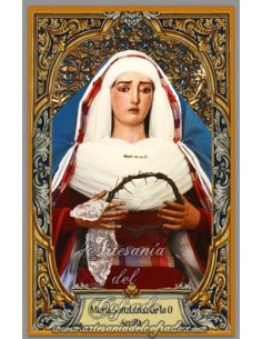Azulejo rectangular de la Virgen de la O de Sevilla
