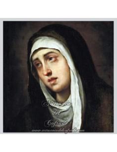 Placa madera 15x15 de Virgen Dolorosa