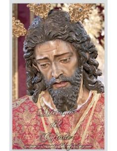 Azulejo rectangular de Nuestro Padre Jesús Cautivo y Rescatado de Sevilla