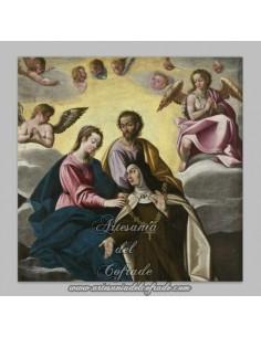 Placa madera 15x15 de Santa Teresa de Jesús