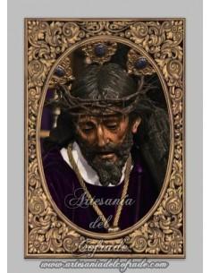 Azulejo rectangular de Nuestro Padre Jesús con la Cruz al Hombro (Sevilla)