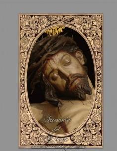 azulejo rectangular del Santísimo Cristo de la Salud de San Bernardo de Sevilla