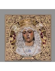 Azulejo cuadrado de la virgen de la Amargura de Sevilla