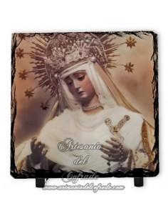 Preciosa Pizarra 10x10 de la Virgen del Rosario de Montesión de Sevilla