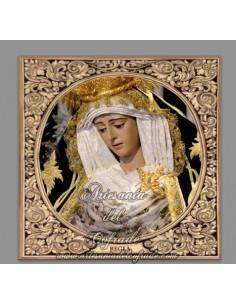 Azulejo cuadrado de la virgen de Regla de Sevilla