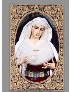 Azulejo rectangular de la Virgen del Patrocinio de Sevilla