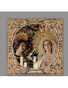 Azulejo cuadrado de la Virgen de los Dolores y Misericordia de Sevilla
