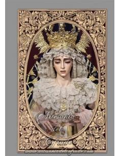 Azulejo rectangular de la Virgen de Salud (Cofradía de San Gonzalo de Sevilla)