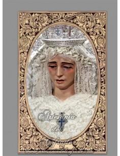 Azulejo rectangular de la Virgen de la Paz de Sevilla