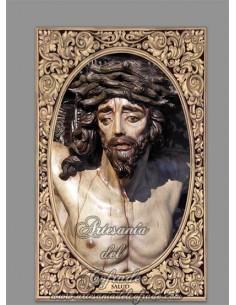 Azulejo rectangular del Cristo de la Salud (Cofradía de Montesión de Sevilla)