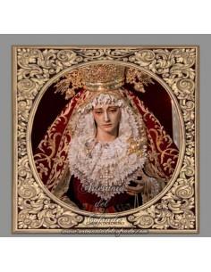 Azulejo cuadrado de la Virgen del Carmen Doloroso de Sevilla