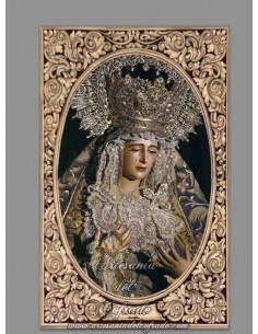 Azulejo rectangular de la Virgen del Loreto de Sevilla