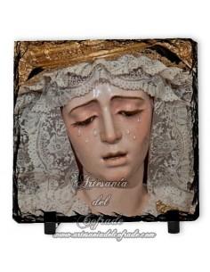 Pizarra cuadrada de la Virgen de la Estrella de Sevilla