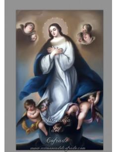 En venta esta cerámica rectangular de la virgen Inmaculada - Tienda de azulejos religiosos