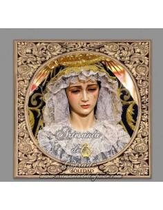 Azulejo cuadrado de la Virgen de la Soledad de Sevilla (Servitas)
